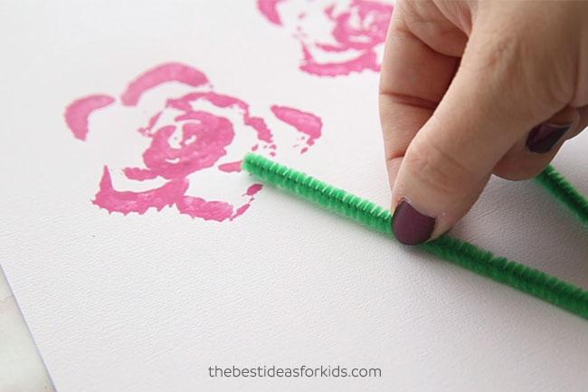 Celery Printing Flower Bouquet