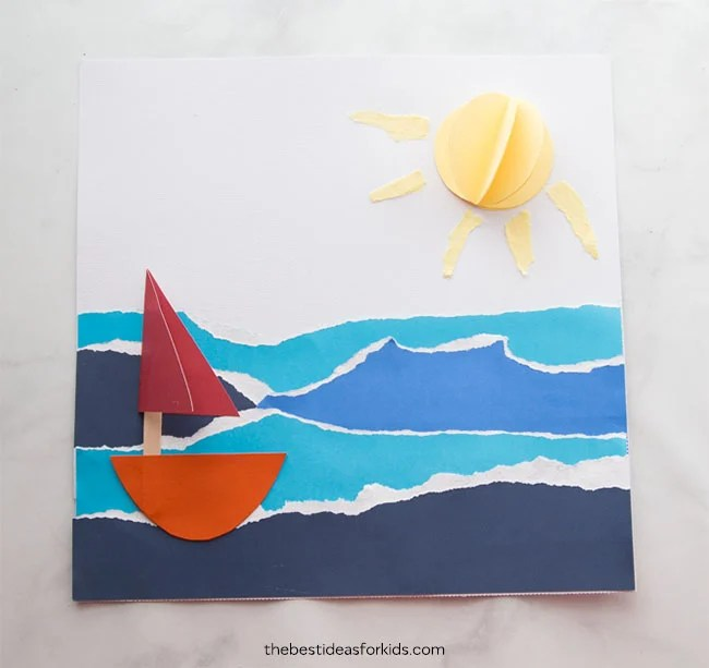 Paper Sailboat Beach Craft