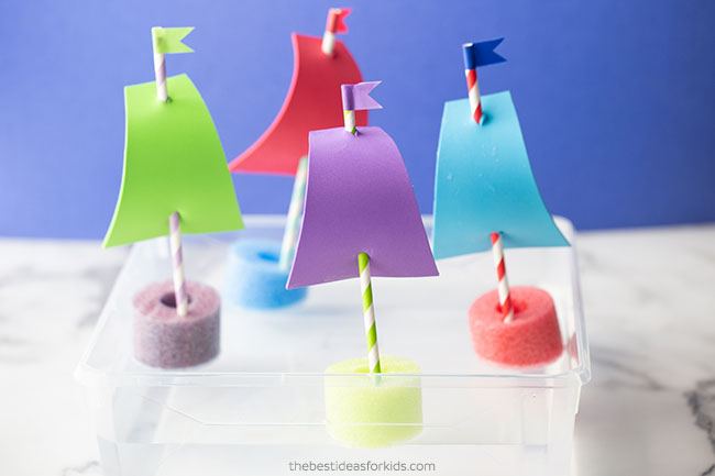 Pool Noodle Boats for Kids