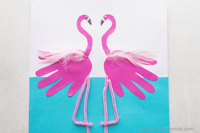 Make Flamingo Handprint