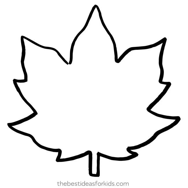 Maple Leaf Template Leaf Outline