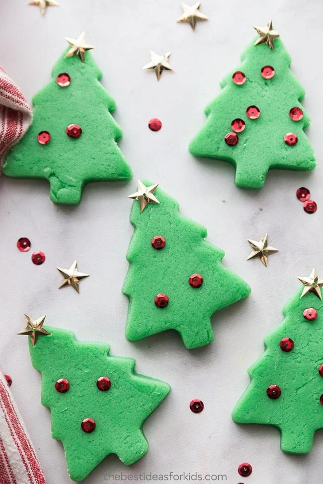 Christmas Tree Playdough