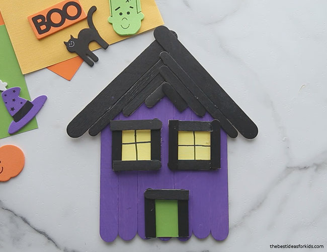 Glue on Door for Popsicle Stick Haunted House
