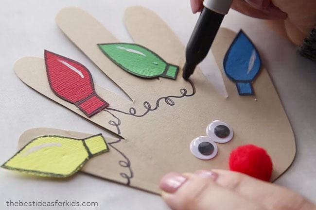 Reindeer Christmas Handprint Ideas