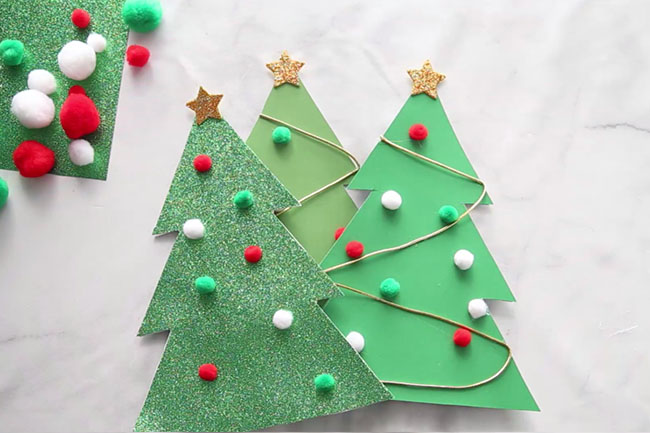 Christmas Tree Outline for Crafts