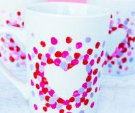 Fingerprint Heart Mug