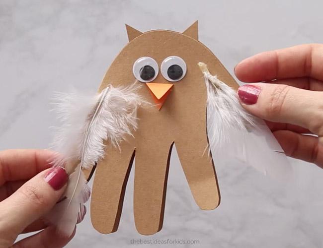 Handprint Owl Card