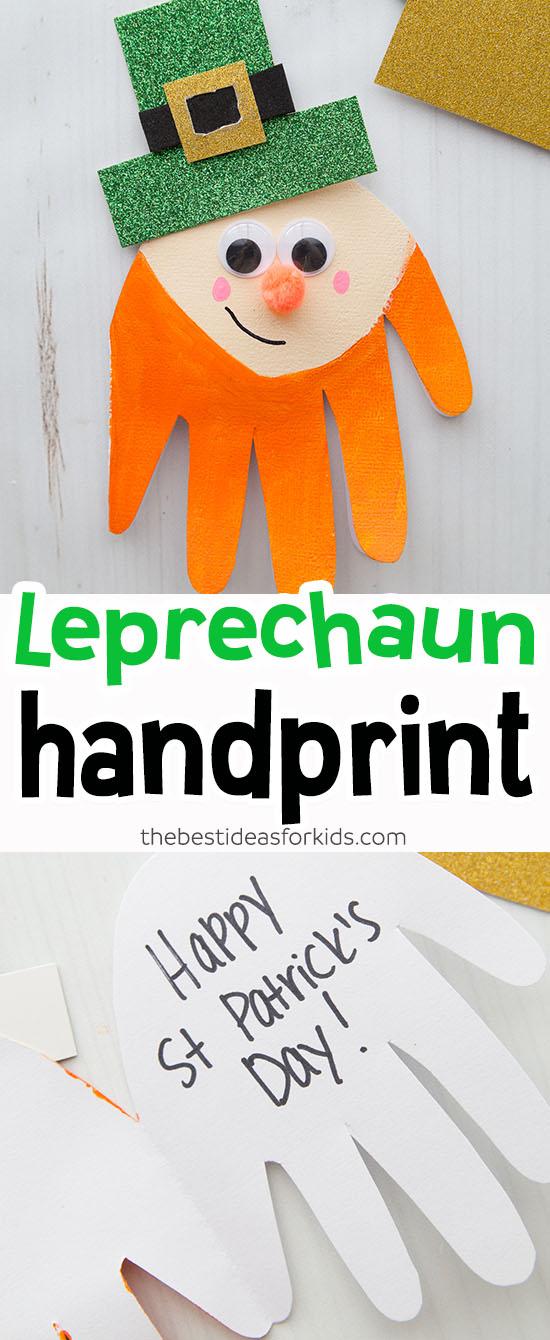 Leprechaun St Patrick's Day Handprint