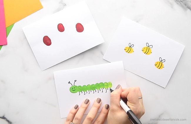Make fingerprint caterpillar