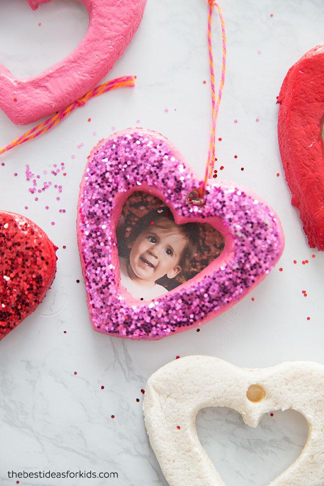 Salt Dough Photo Heart Ornament