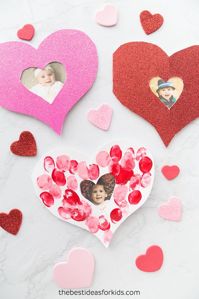 Valentine Fingerprint Heart Card