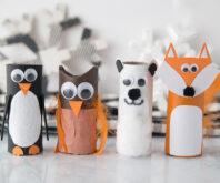 Winter Toilet Paper Roll Animals