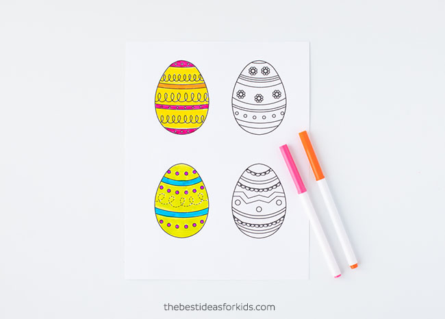 Coloring Easter Egg Template