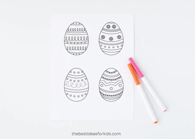 Easter Egg Template Printable