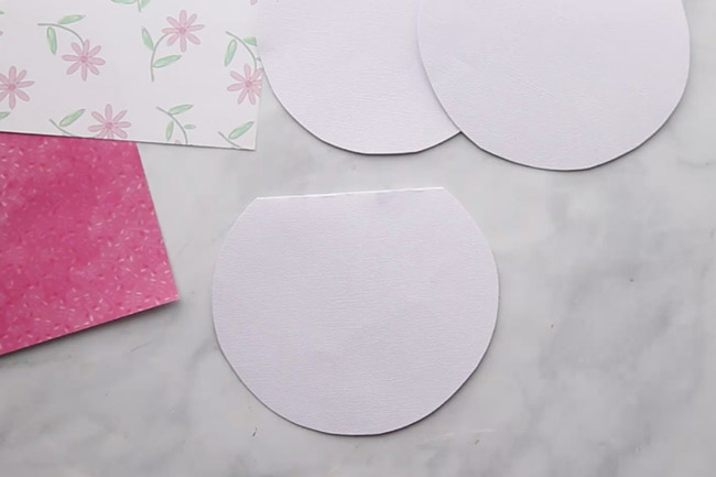 Cut out Easter Card