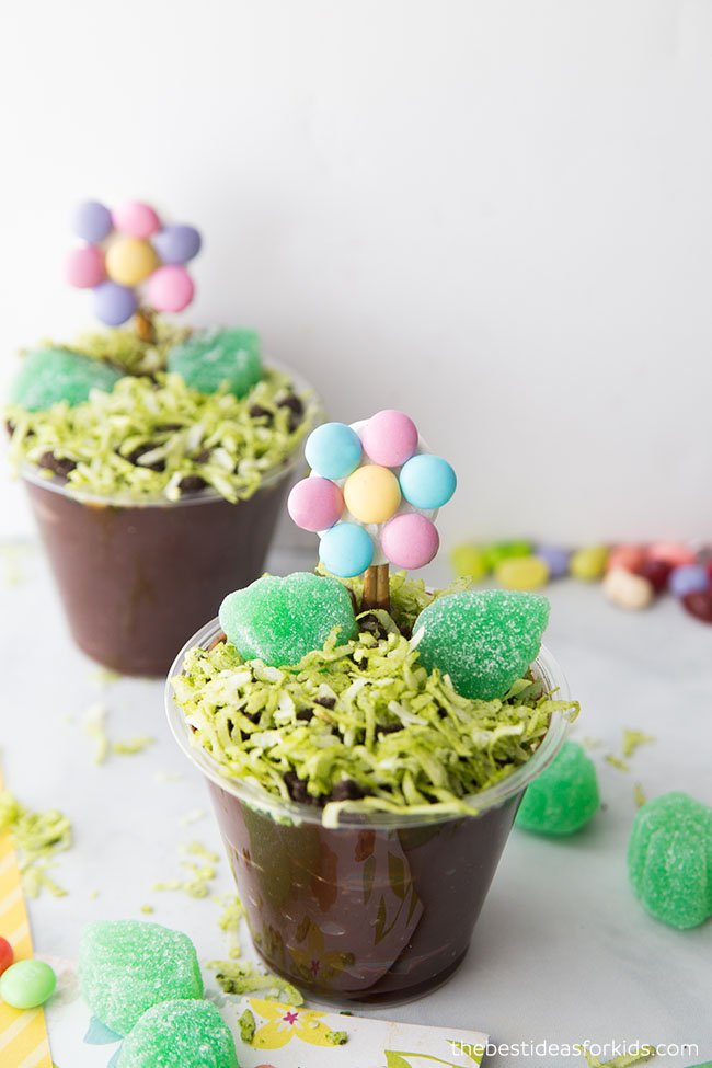 Spring Flower Pudding Cup