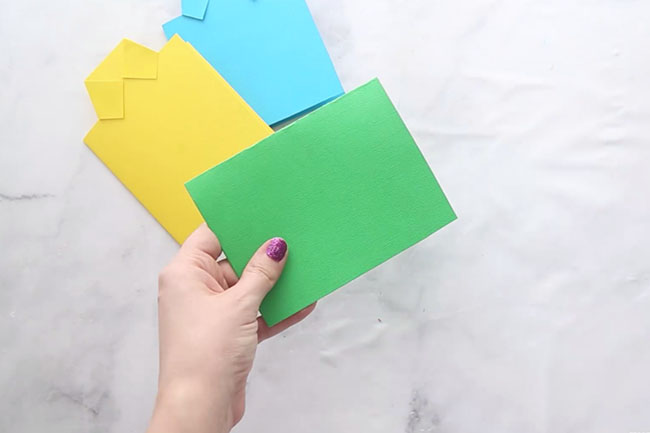 Fold Paper in Half for Shirt Card