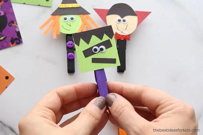 Frankenstein Clothespin Craft