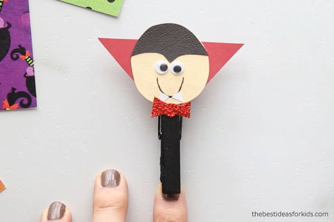 Vampire Clothespin Craft