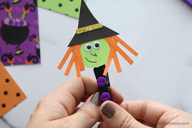 Witch Clothespin Add Buttons