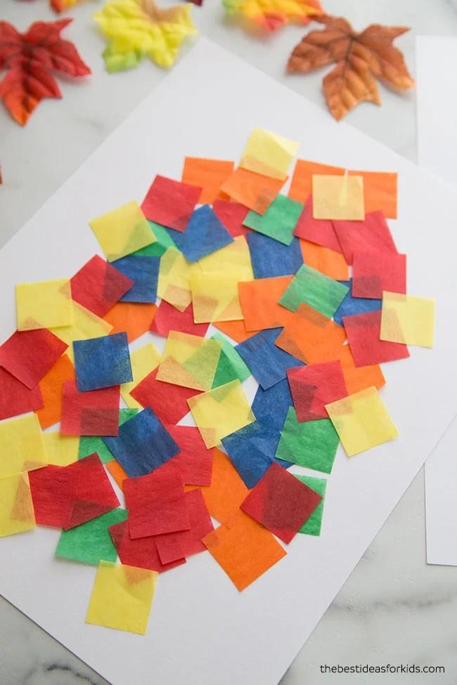 Add Tissue Paper for Bleeding Tissue Paper Art