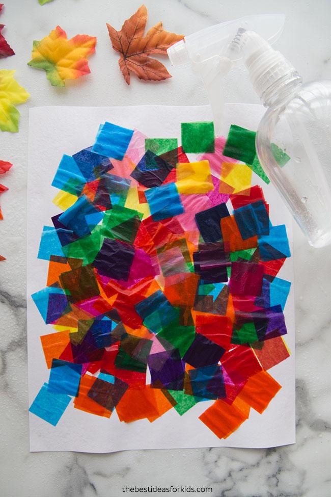 Bleeding Tissue Paper Art Craft