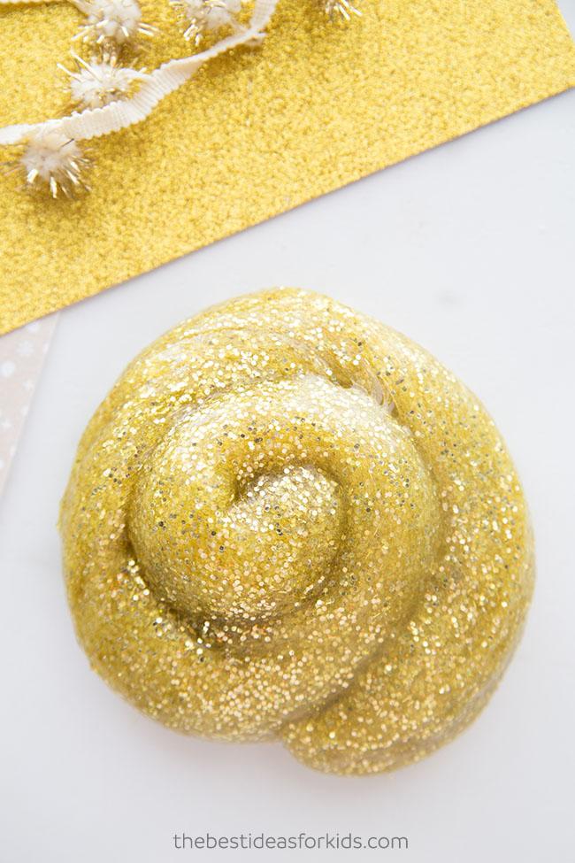 Glitter Gold Slime