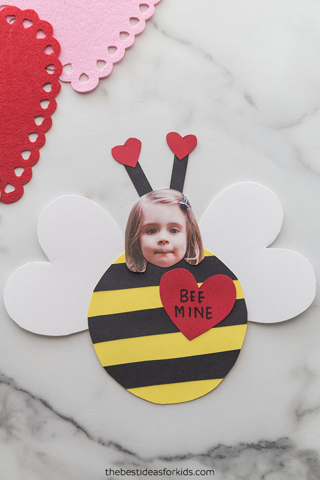 Valentine Bee Craft With Free Printable The Best Ideas For Kids