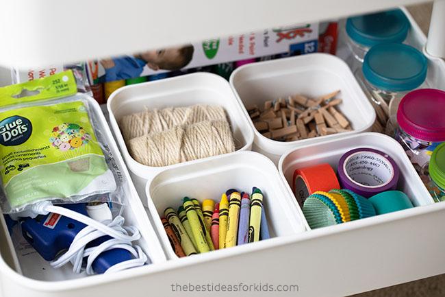 Art Supply Storage Ideas for Kids