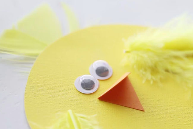 Glue Googly Eyes to Chick
