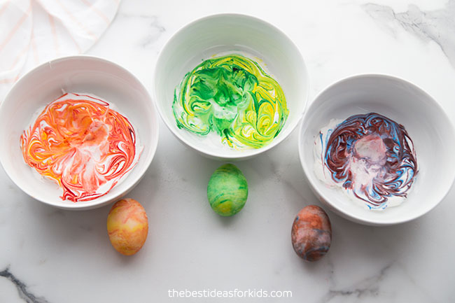 Mix Colors for Cool Whip Eggs