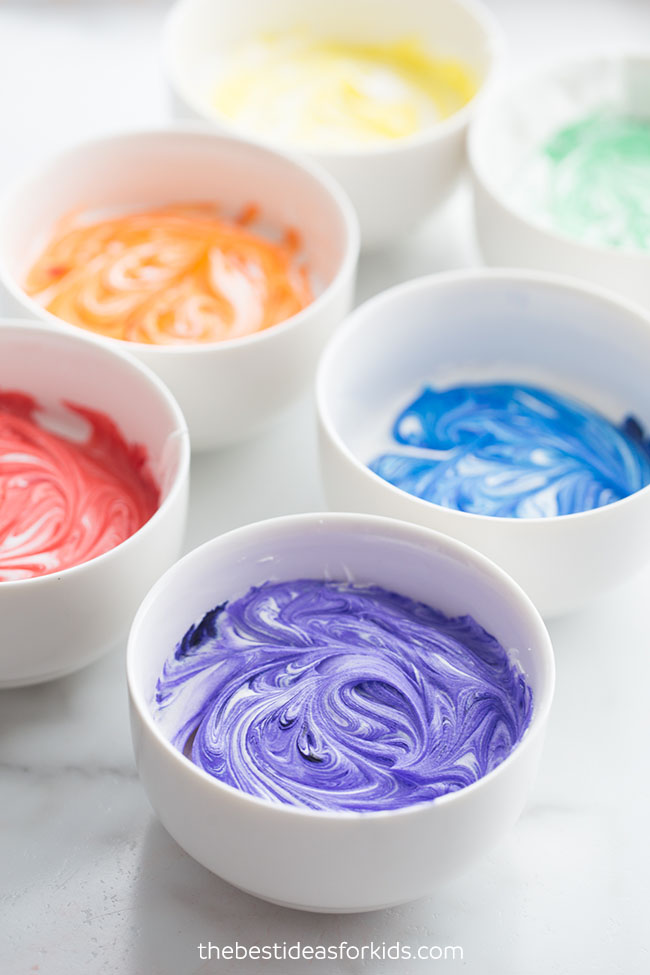 Swirl Cool Whip and Dye