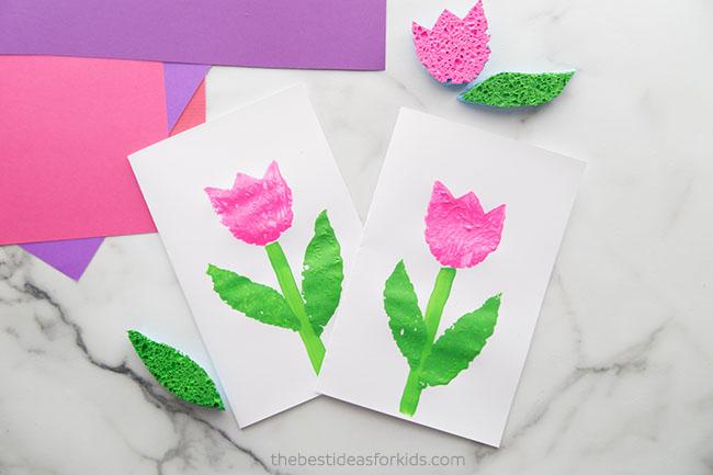 Tulip Sponge Painting