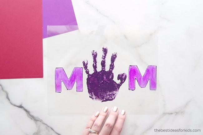 Mom Handprint Shrinky Dinky
