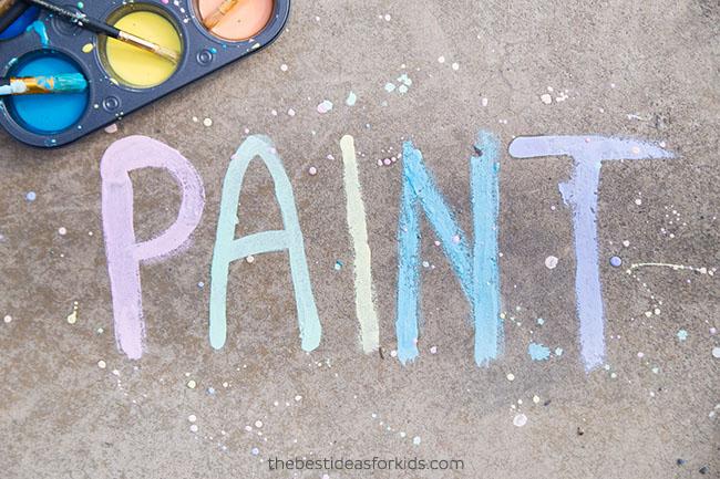 Sidewalk Chalk Paint for Kids