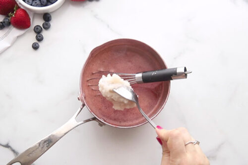 Add Bloomed Gelatin