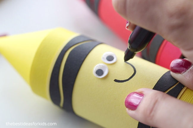Add Smiley Face to Crayon