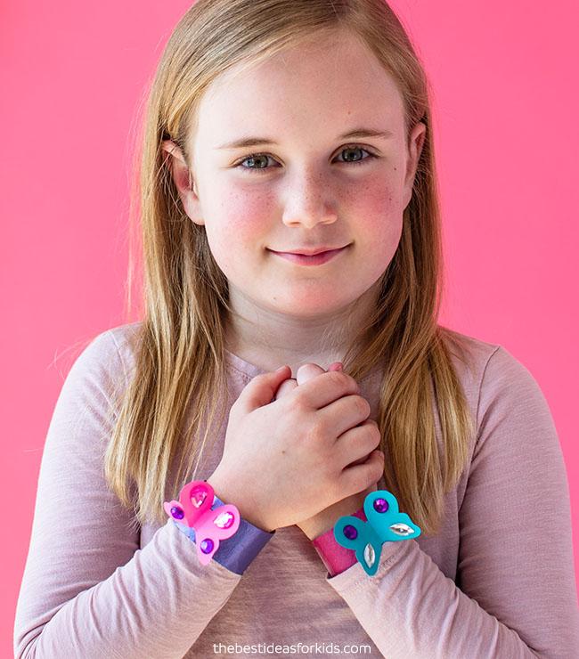 Toilet Paper Roll Bracelets Craft for Kids