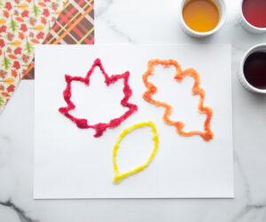 Leaf Salt Painting