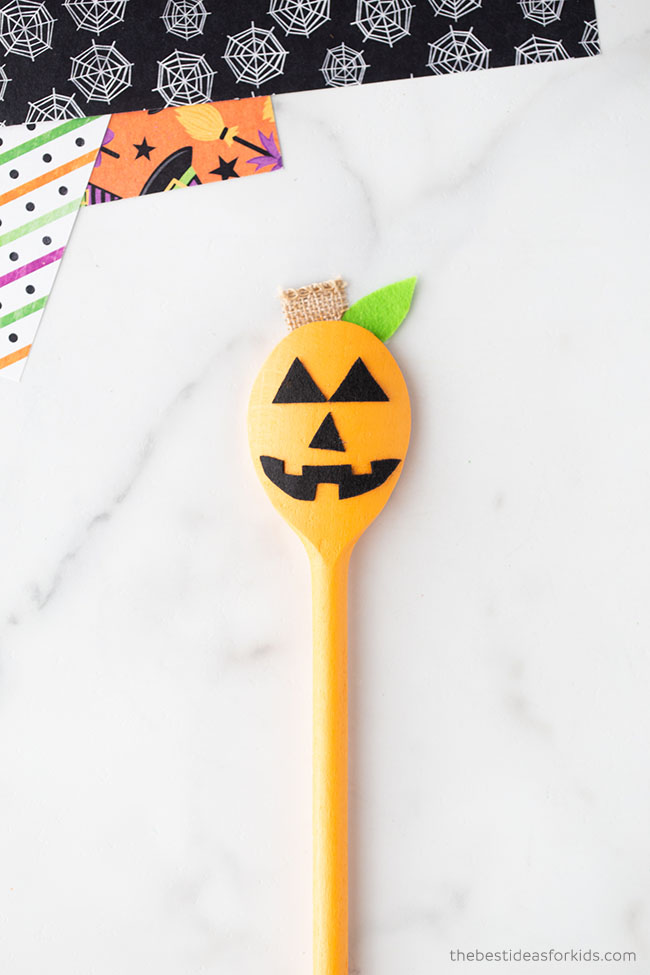 Wooden Spoon Pumpkin Craft