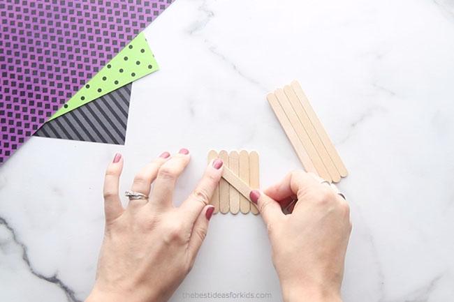 Glue Popsicle Sticks Together