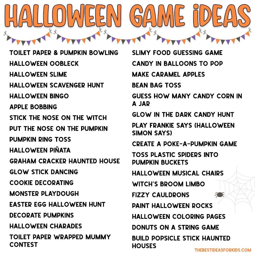 Halloween Game Ideas List