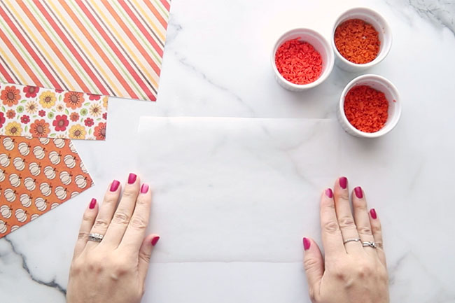 Wax Paper for Crayon Shavings