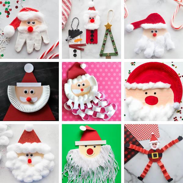 Christmas Santa Crafts for Kids