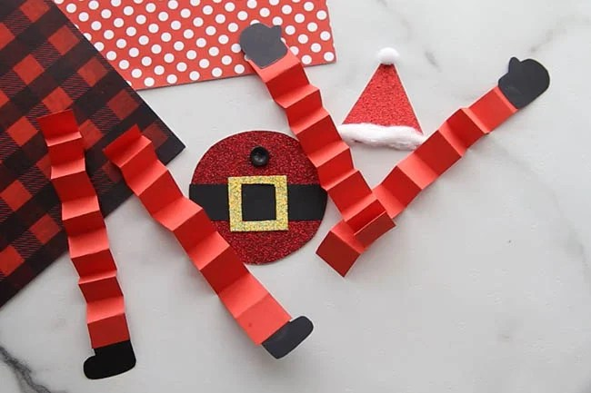 Paper Santa Template Cut Outs