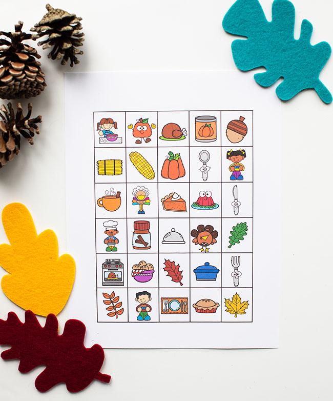 Thanksgiving Bingo Calling Cards