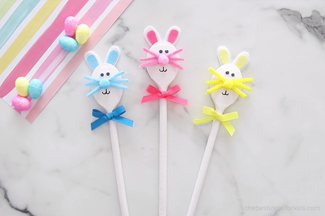 Add Bow to Bunny Spoons