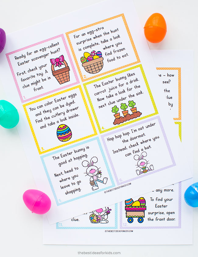 Indoor Easter Scavenger Hunt