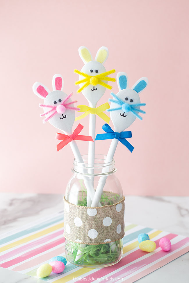 Wooden Spoon Easter Bunny