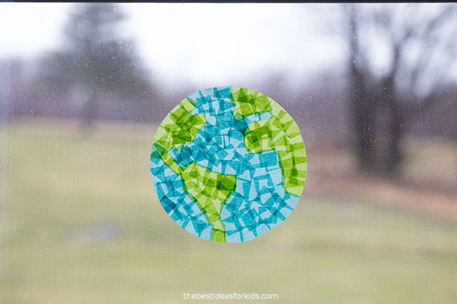 arth Suncatcher Craft for Earth Day